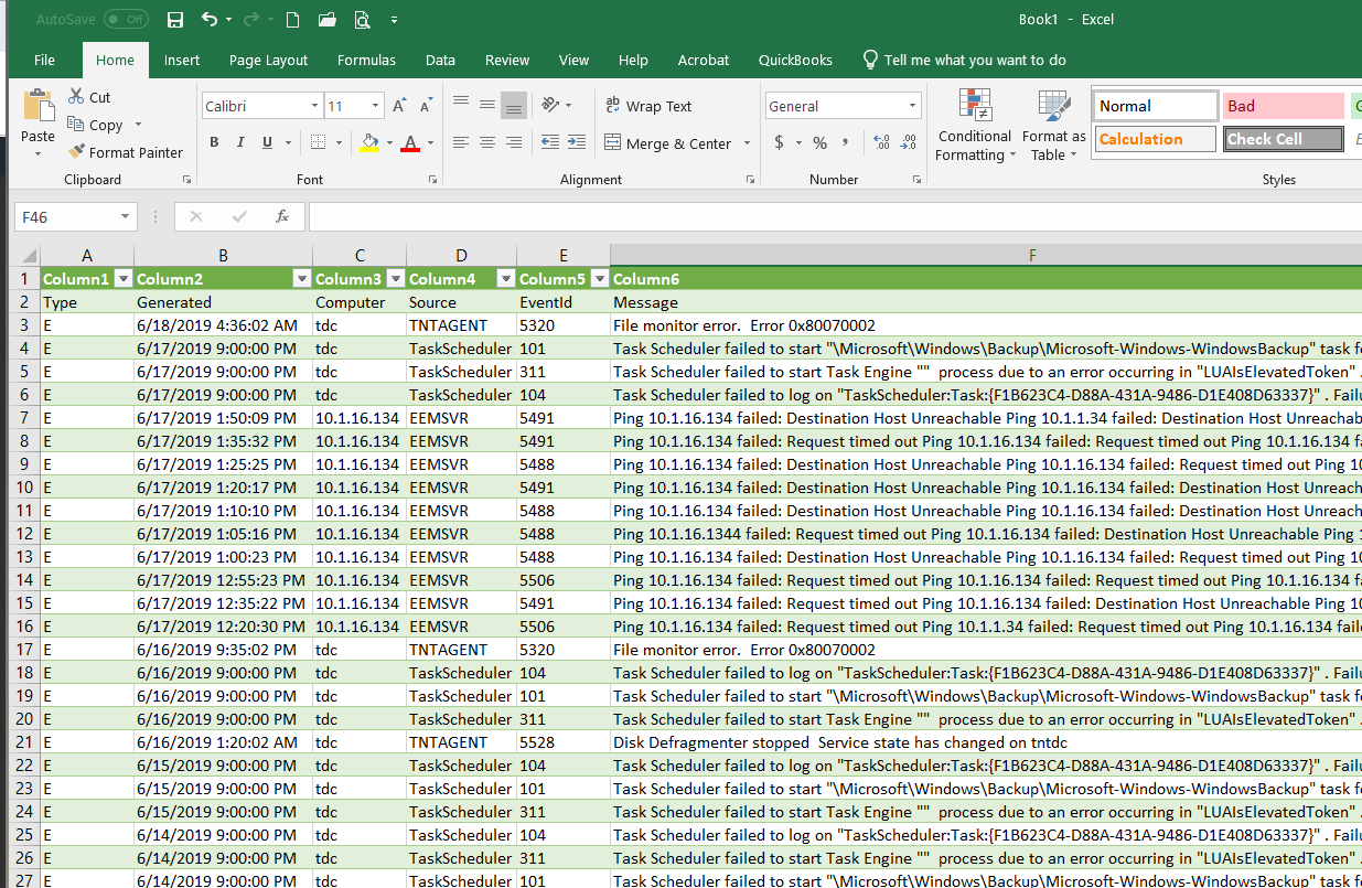 Export Event View to Excel 5