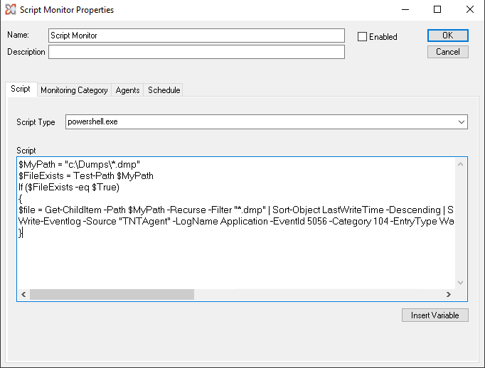 Monitoring Capabilities – TNT Software