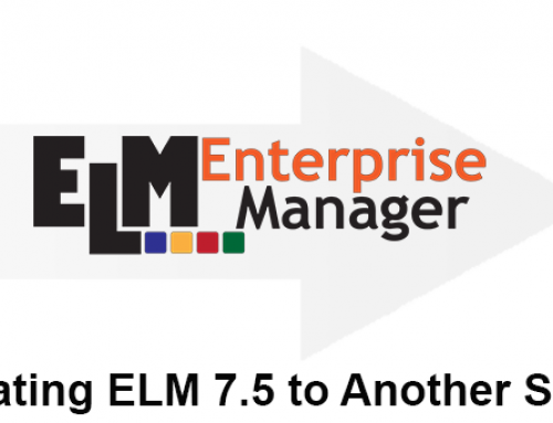 Migrating the ELM 7.5 Server to Another Server – Best Practices